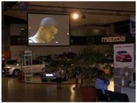 Toile Projection Salon Auto by R'Screen